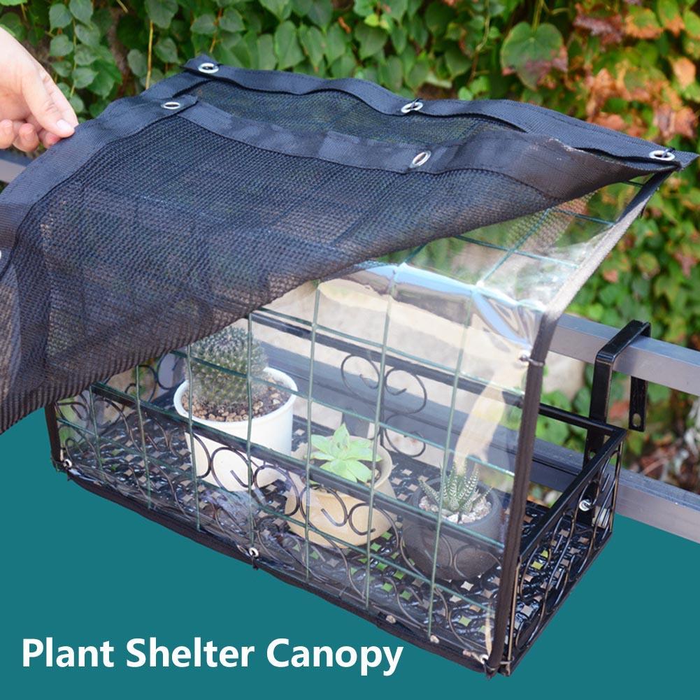 Good Light Transmission Plant Shelter Canopy Flower Pot Awning Rainproof Canopy Plant Shelter Canopy For Home Balcony Garden