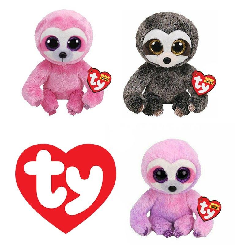 Ty с большими глазами мягкий Мягкие плюшевые игрушки Мечтательный фиолетовый плюшевый Ленивец набивные животные коллекционные Ленивец обе...