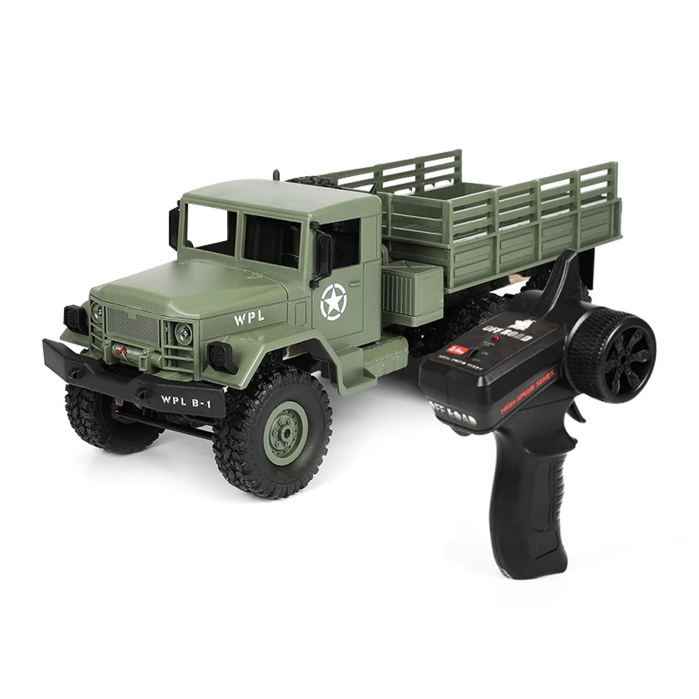 RC Truck 2.4G RC Off-road Crawler Military Truck Army Car Children Gift Kids Toy for Boys RTR Comman