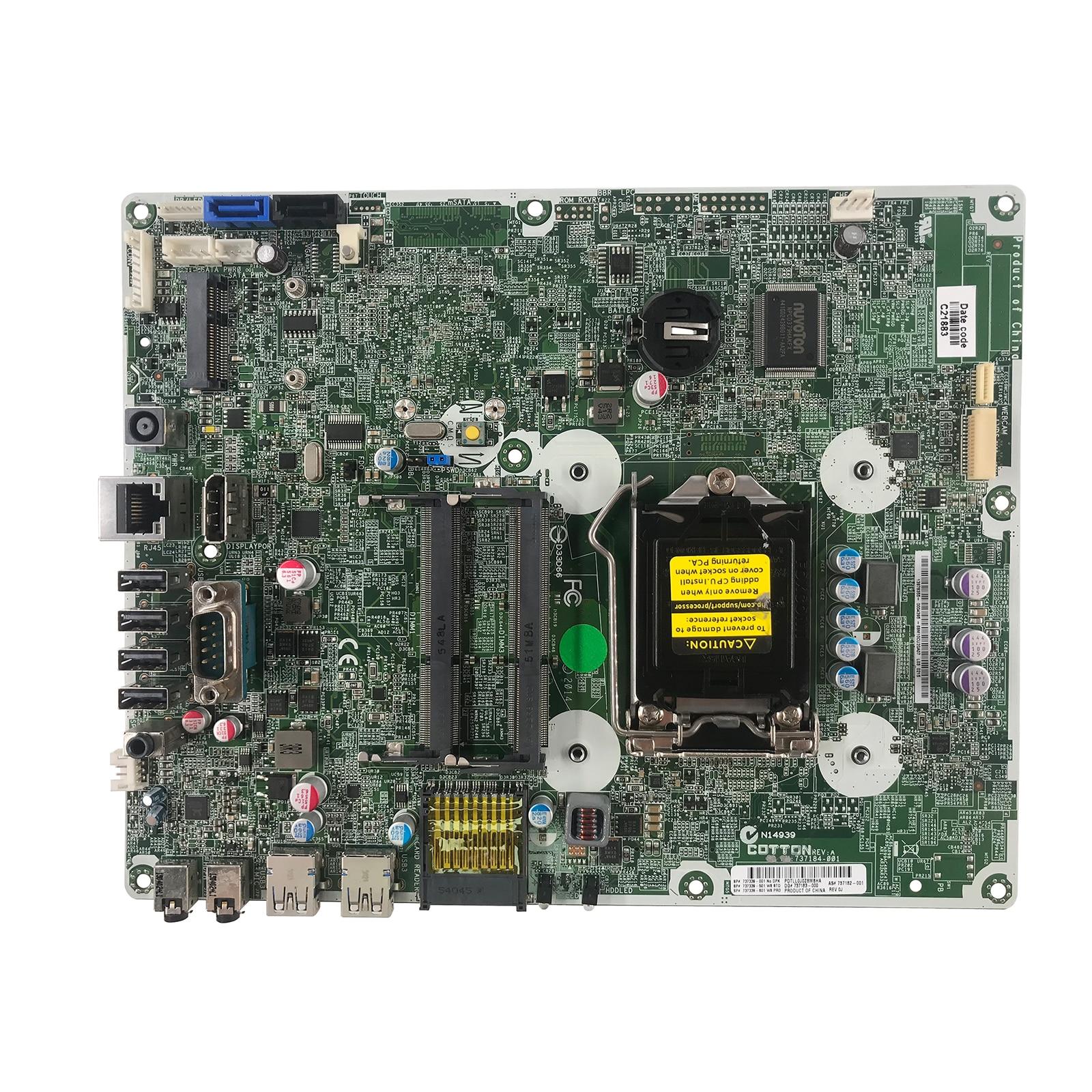LSC ل HP برو واحد 400 G1 AIO اللوحة 737185-001 737340-001 737340-601 H81 LGA 1150 DDR3 100% Teste