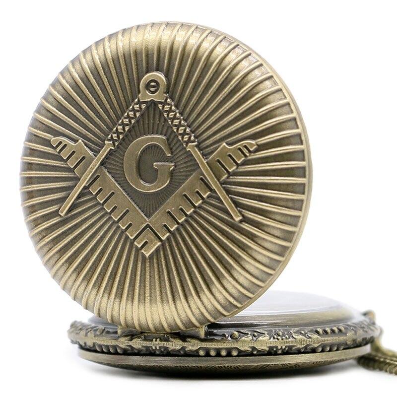Бронзовий масонський масонство хром - Кишенькові годинники - фото 3