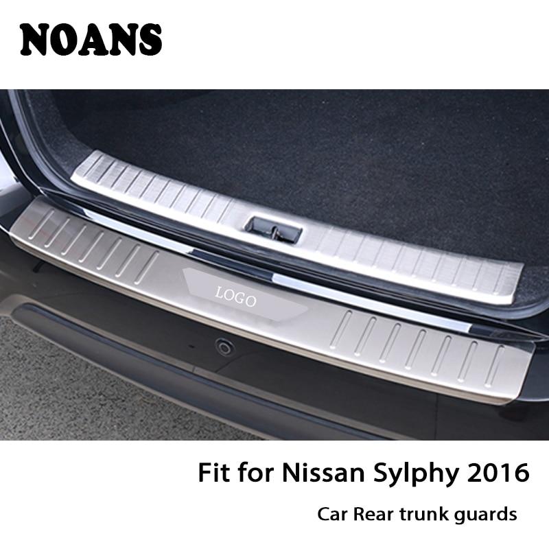 Para Nissan Sylphy teana j31 j32 2016 Protector del umbral de la puerta trasera cubierta del maletero del parachoques trasero exterior de acero inoxidable estilo de coche