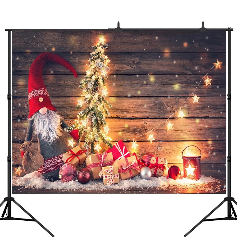 Lyavshi fotografía telones de fondo árbol de Navidad madera pared estrellas brillo vintage Fondo fotomatón foto de estudio prop