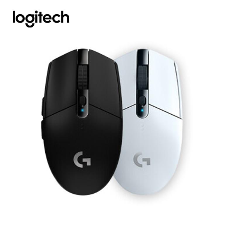 Logitech Gaming Mouse G304 velocidad inalámbrica héroe de 5AA batería 2,4G 12000DPI para LOL PUBG Fortnite CSGO Puerto USB ratones