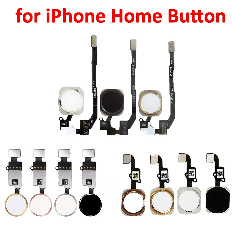 Home Button With Flex Cable Assembly Replacement Mobile Phone Parts For iPhone 6 6Plus 6sPlus 7 7Plu