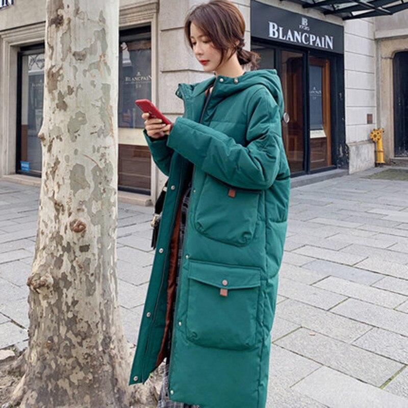 Down coat Women Winter Jacket Women long thick large size cotton coat Korean version loose cotton clothing Casual parka недорого