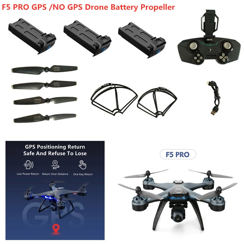 F5 PRO No GPS /GPS 6K RC Drone  7.4V 2000MAH Battery Propeller Protect Frame F5 PRO Accessories F5 blade F5 GPS Drone Battery
