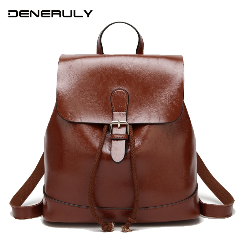 2018 design women black pu leather backpack high quality casual large capacity backpacks for school travel bag for women Soft Leather Backpack Women High Quality Pu Backpacks For Teenage Girls Black Mochila Feminine Large Capacity Bag For Women 2019