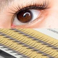 60pc 10d eyelash extensions 0 1mm thickness true mink strip eyelashes individual lashes natural style 1box plastic black band