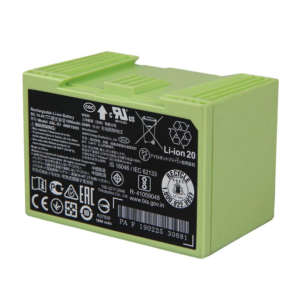 Original Replacement Battery ABL-D1 For iRobot Roomba i7 i7+ i8 e5 e6 i7158 i7550 i7558 e6198 e5154 e5152 e5150 7550 1800mAh enlarge