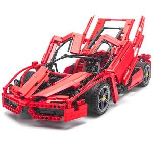 9186 гоночная серия супер автомобиль 1:10 Модель Набор строительных блоков 8653 Классическая техника автостайлинг игрушки для детей