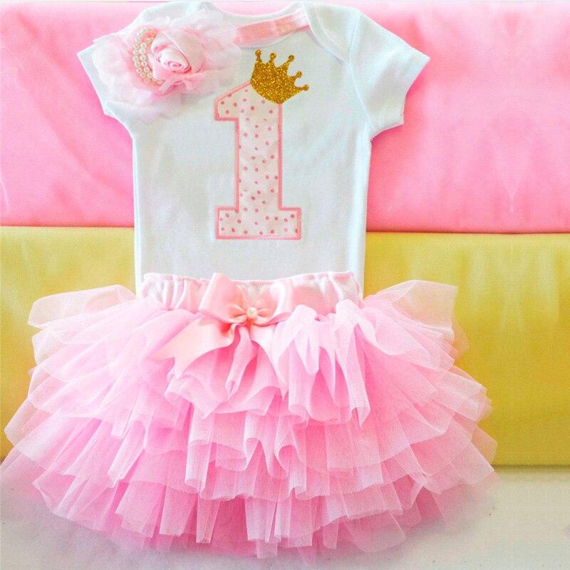 Es ist Mein 1st Ersten Geburtstag Kleid Neugeborenen Baby Mädchen 1 Jahre Geburtstag Outfits 12 Monate Kleinkind Mädchen Party Taufe kleider Rosa