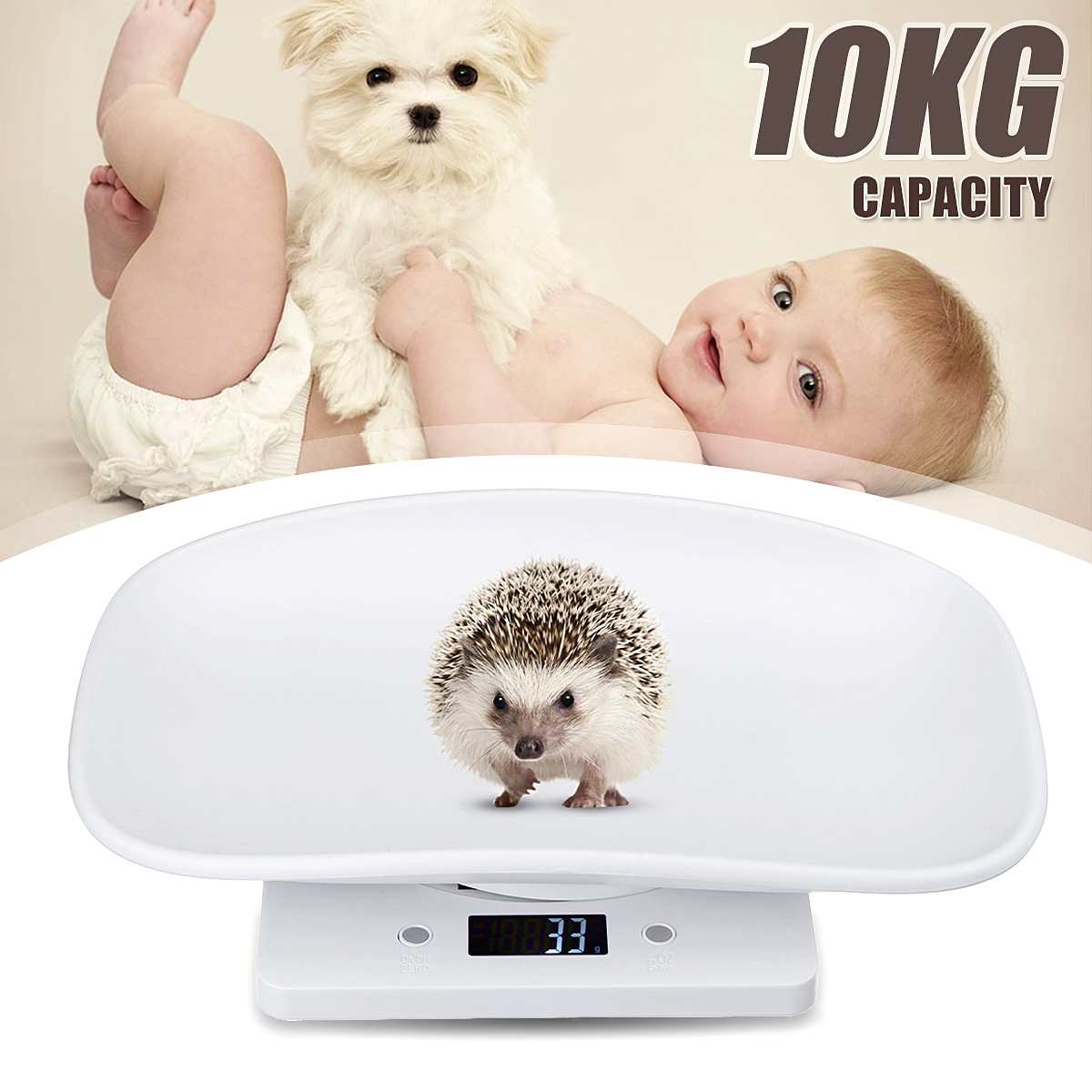 10kg / 1g Multi-function Digital Electronic Small Pet Animals Balance Newborn Baby Scale
