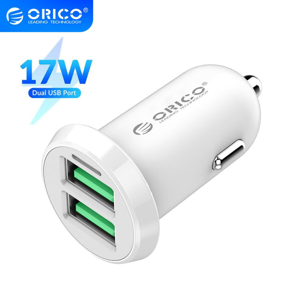 ORICO 17W 3.4A Car Charger Cigar Lighter Dual USB Fast Charging Charger Adapter For iPhone Xiaomi Re