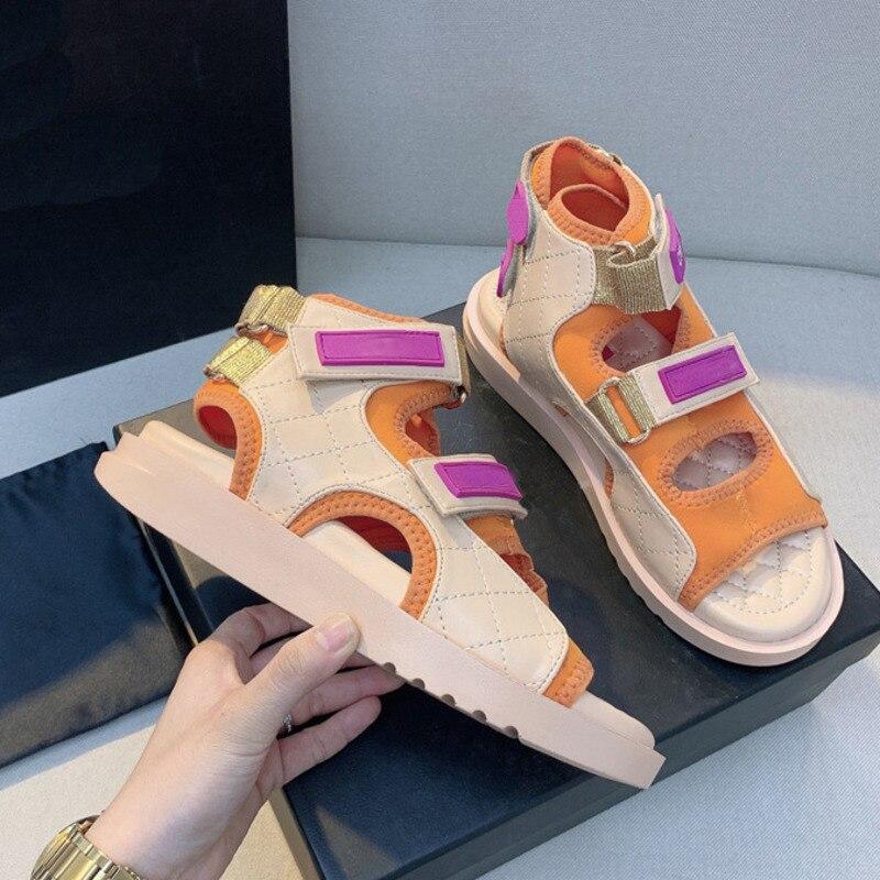 Luxury Shoes Fashion Women Sandals Slippers High Quality Designer Platform Shoes Thick Sole Flat Heel Roman Shoes Female Sandals