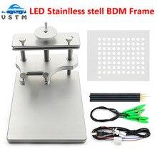 DHL Freies Edelstahl LED BDM Rahmen Für Galletto FGTECH BDM100 Metall BDM Rahmen ECU Programmierung Werkzeug