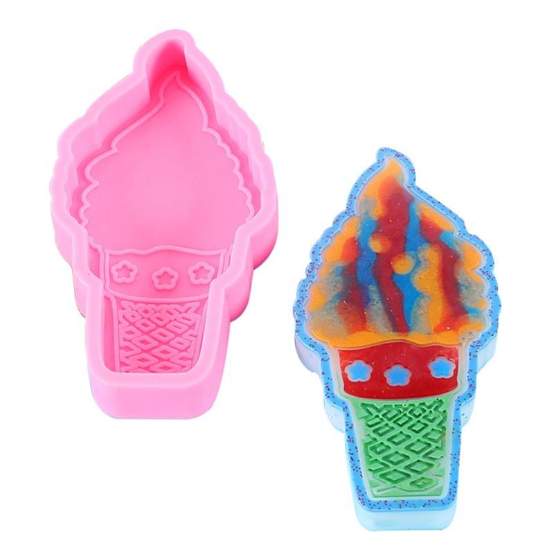 Molde de silicona para hielo en forma de crema para cupcakes, moldes...