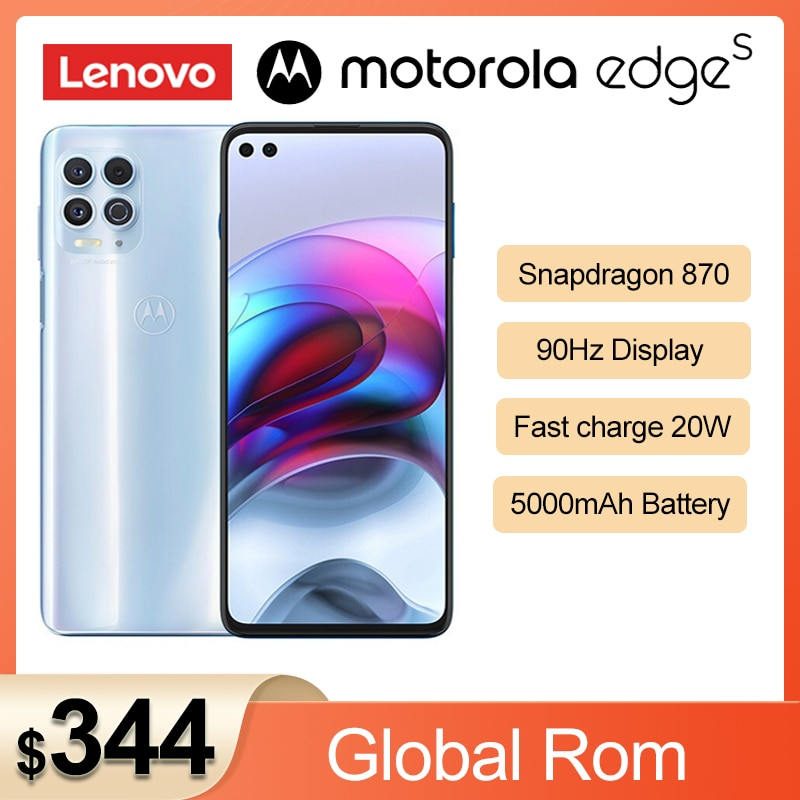 Перейти на Алиэкспресс и купить 2021 Новый Motorola край s Snapdragon 870 5G смартфон 6,7 ''Android 11 90 Гц IPS 64MP камера 5000 мАч батарея NFC мобильный телефон