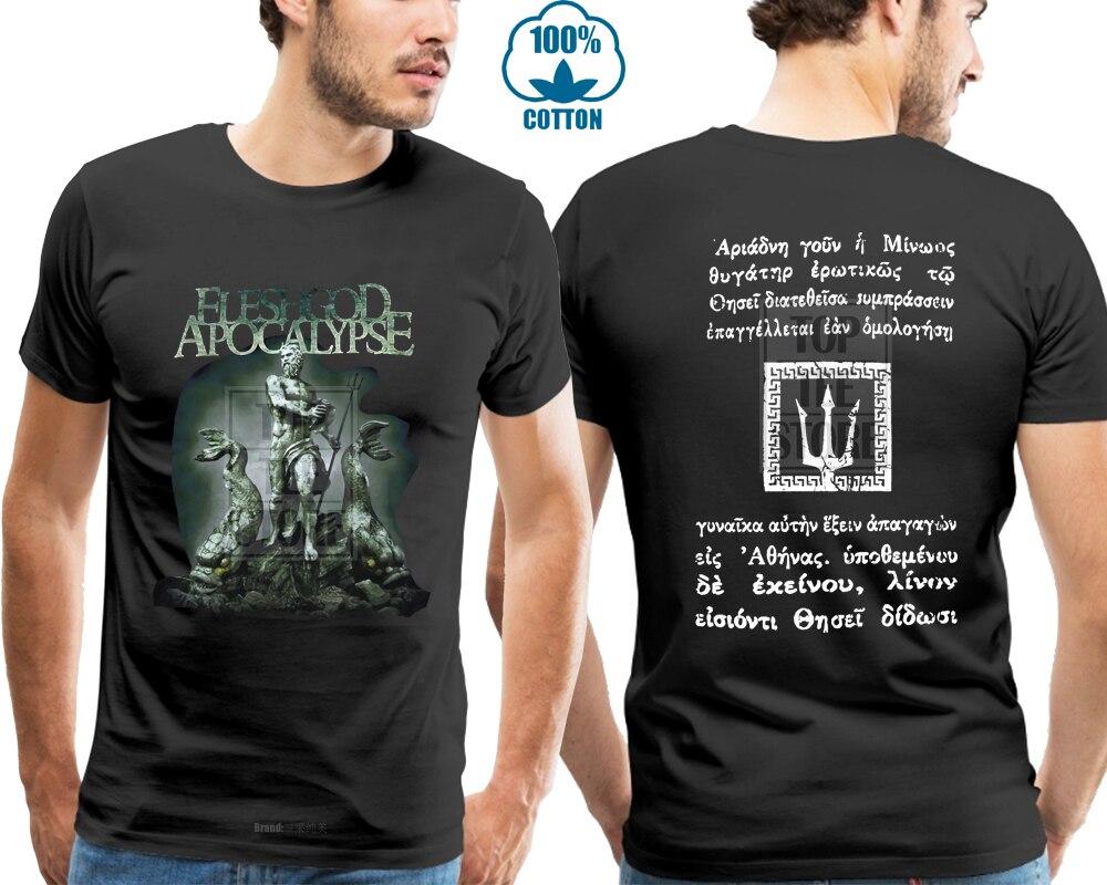 Fleshgod apocalypse poseidon camisa s m l xl oficial morte metal t camisa camisas homme novidade tshirt men
