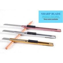 Pequeño cuchillo de papel pintado theutilityknife, pequeño cuchillo de papel, cuchillo de papelería al por mayor, herramienta diy, tres colores ASS026
