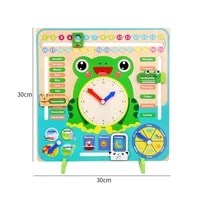 wooden educational clock toys hour minute second cognition kids toys colorful early clocks learning for children gift q2q8