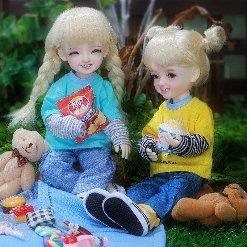 Dollbom pingo bjd sd bonecas yosd littlefee luts 1/6 figuras de resina bola joint brinquedos peruca sapatos olhos roupas bwy