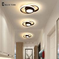 Современный светодиодный потолочный светильник проход светильник s с серебряным покрытием небольшой люстра потолочного светильника для Г...