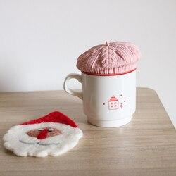Tampa de caneca de café de silicone tampa de copo de água quente tampa de copo de água quente resistente ao calor capa de chá chirstmas presente