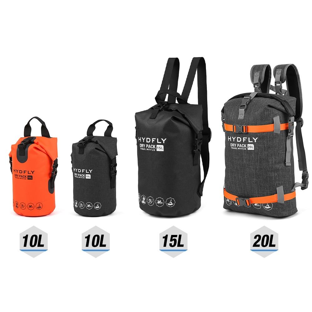 LIXADA Trekking al aire libre bolso seco impermeable bolsa de deporte flotante Roll-top mochila nadar acampar a la deriva de deportes de agua bolsa seca