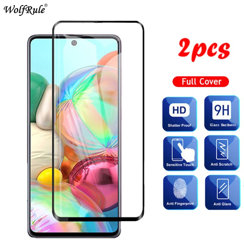 2PCS de cristal para Samsung Galaxy A51 A71 A01 A21 A10S A20S A30S A50S A10 A20 A30 A50 M31 Protector de pantalla de vidrio templado película de vidrio