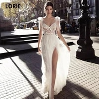 booma beach wedding dresses lace appliques boho bridal gowns sleeveless backless vintage wedding party dress with slit plus size