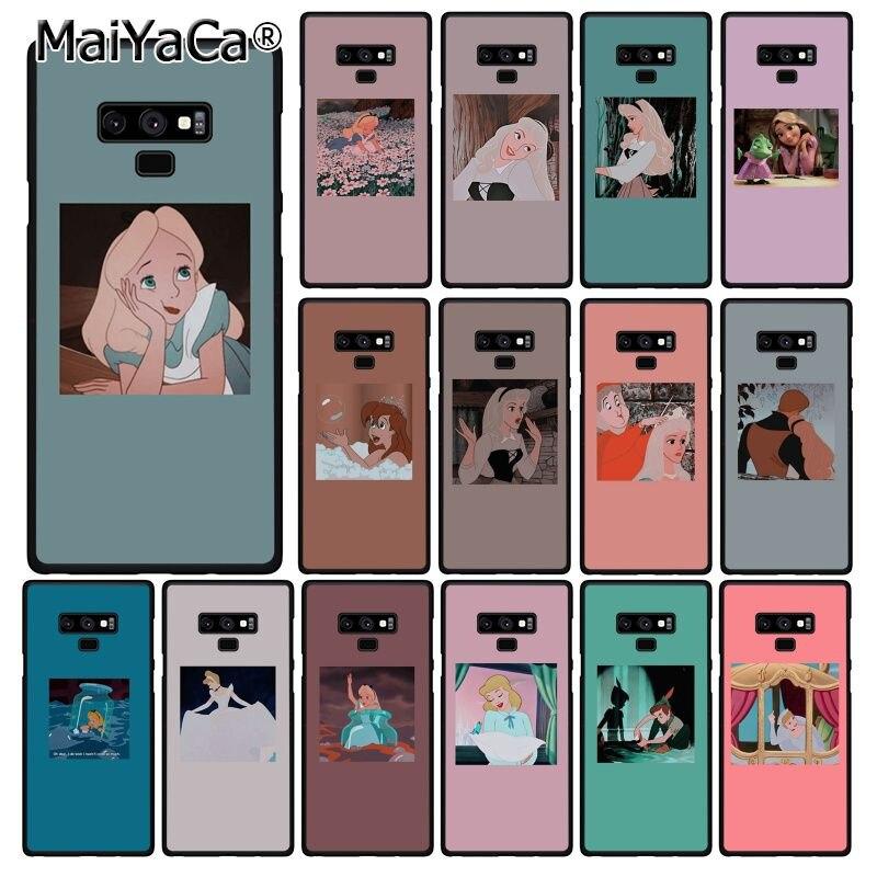Funda de móvil MaiYaCa de dibujos animados princesa Alice Elysian Cenicienta para Samsung Galaxy A50 A70 A20 A30 Note9 8 Note7 Note10 Pro