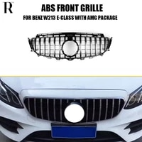 gt style abs front bumper grill grille for benz w213 e200 e300 e400 e43 e53 with amg package 2015 up