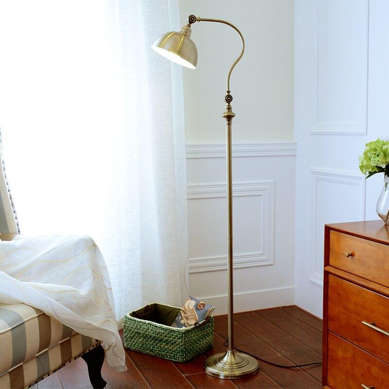 Современная Скандинавская американская железная Раскрашенная E27 Светодиодная Регулируемая Напольная Лампа, напольная лампа для гостиной, ...