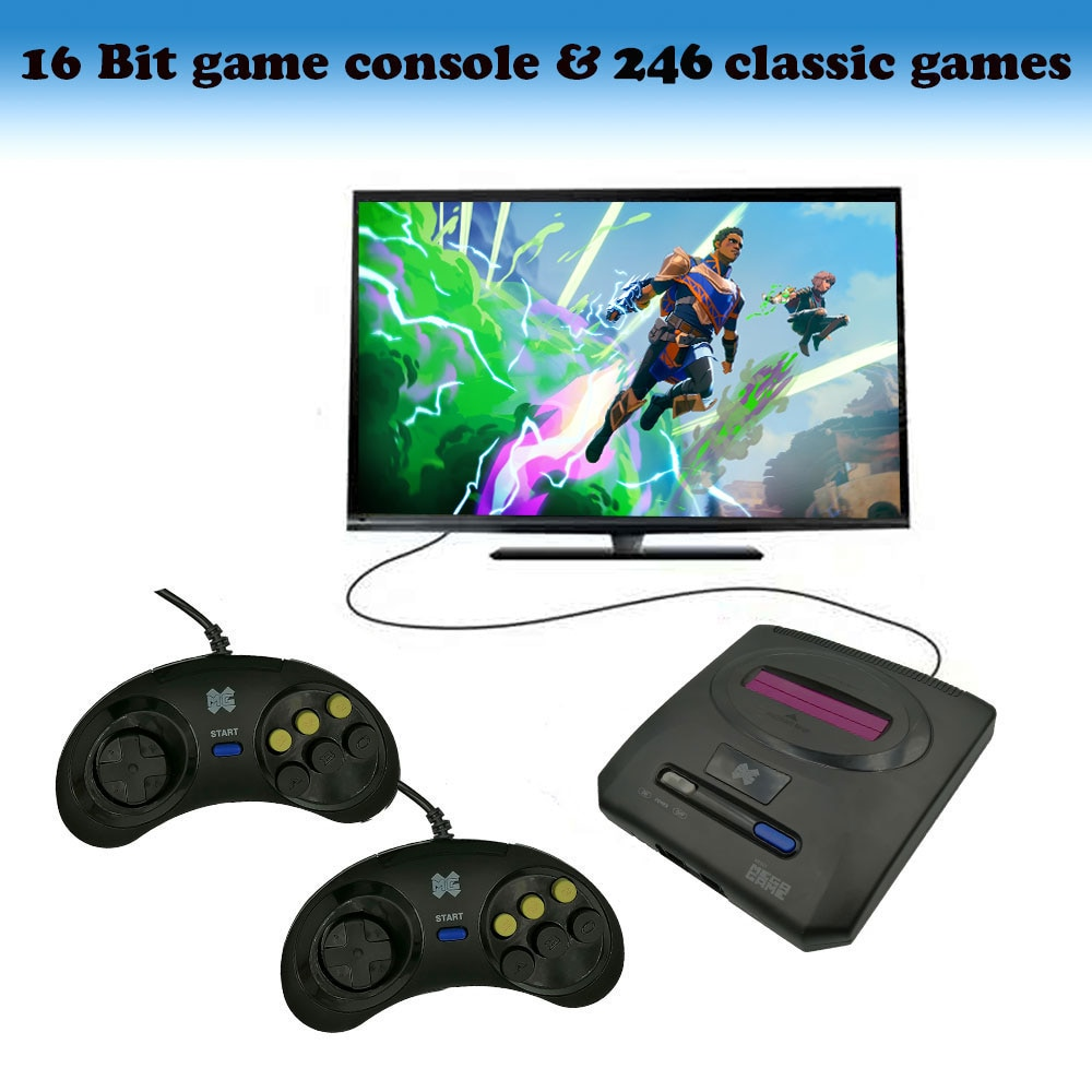 Mini TV Games Console Retro 16 Bit for SEGA Player Video Game Built-In 246 Classic Games Arcade Gaming Player Christmas Gift недорого