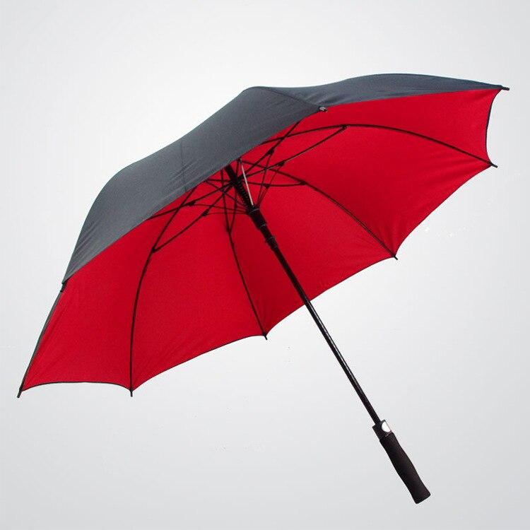 Fabricantes al por mayor paraguas de Golf de fibra de poste recto doble lluvia o brillo doble uso paraguas de publicidad doble capa Go
