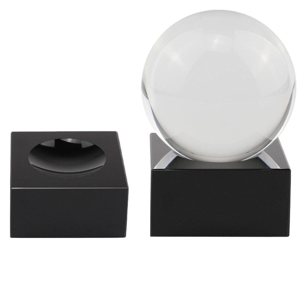 Preto k9 de vidro expositor cubo lente cristal bola 70 80mm 100mm grande adivinhação fotografia lensball base esfera mágica titular