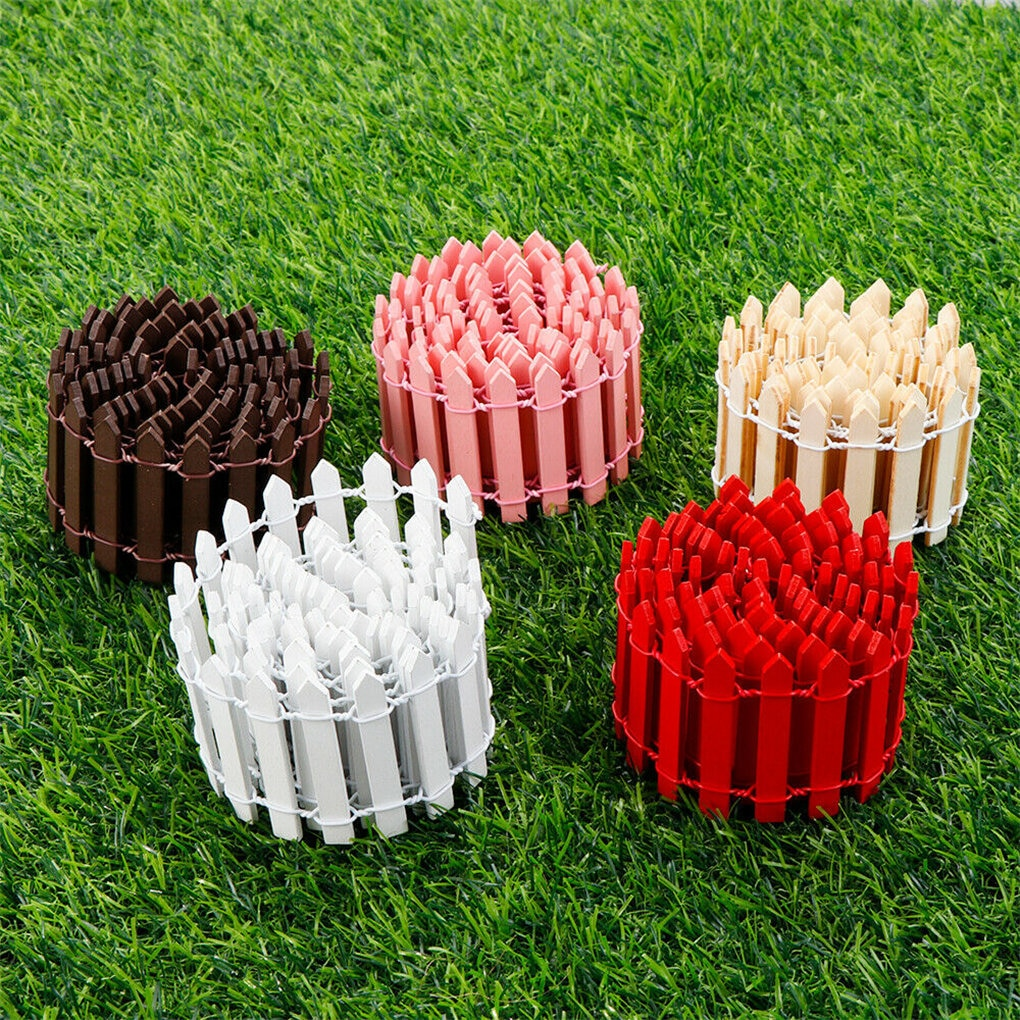 Mini Small Fence Barrier Wooden Craft Fence DIY Garden Kit Plant Flower Potted Landscape Decor Accessories Miniature Terrarium