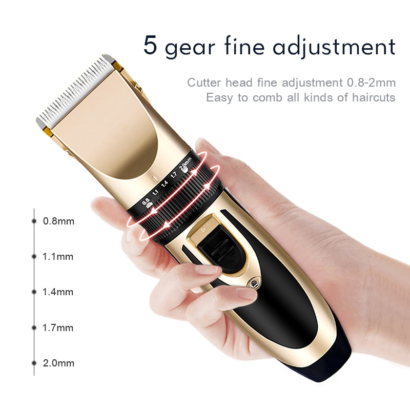 Professional Hair Clippers Barber Haircut Ceramic Blade Rechargeable Trimmer Adjustable Cordless Edge for Men Cutting Machine enlarge