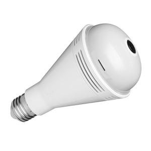 960P WIFI Bulb Camera 360 degree Wide Angle Fisheye HD Indoor Camera Bluetooth Speaker Colorful Light White Light