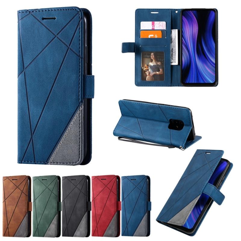 AliExpress - Wallet Case For Xiaomi Redmi Note 9S 7 8 8T 9 Pro 10 7A 8A 9A 9C K20 10X Lite For Xiaomi 9T A3 Pro Colorblock Leather Flip Case
