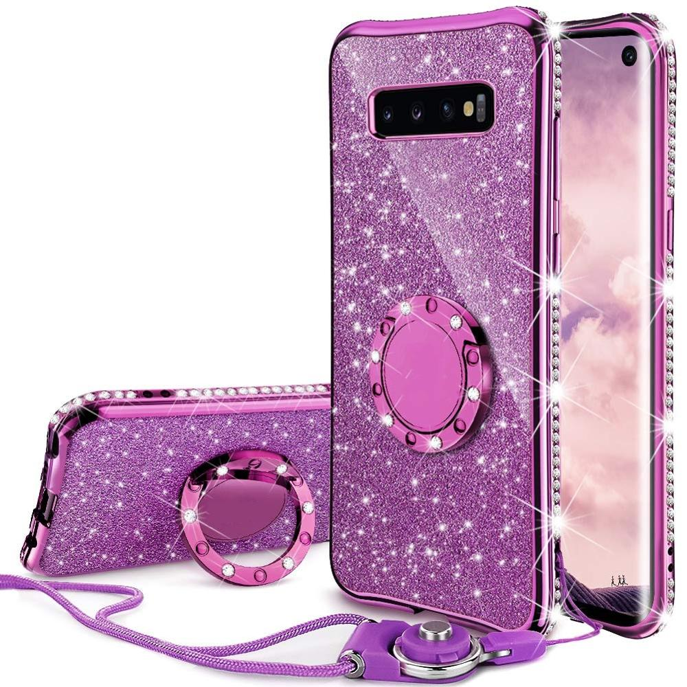Para Samsung Galaxy S8 S9 S10 Plus S10E S7 Edge cubierta diamante brillo anillo funda para Samsung S20 Plus Ultra Note 9 10 Plus funda