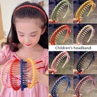 fashion simple headdress solid color resin hair comb hairbands headband hair hoop bezel with teeth hair accessories for women