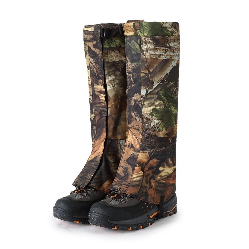 Camouflage Legging guêtres imperméable Snowboard bottes couverture Trekking chaussures guêtres pour la chasse marche Camping en plein air vie désert