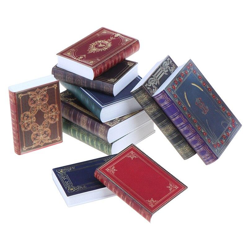 Wholesale 1/12 Miniature Scene Model Dollhouse Accessories Mini Book Paper Notebook Children Toys Bi