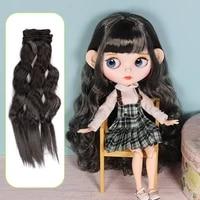 long curly black brown white hair high temperature fiber 25cm100cm bjd sd wigs diy wig for dolls curly hair high temperature fi
