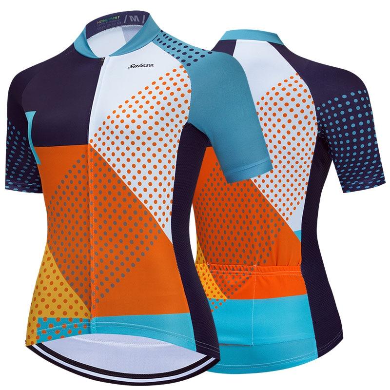 Camiseta de ciclismo transpirable para mujer, ropa de secado rápido para verano, Maillot de equipo de ciclismo de montaña, novedad de 2022