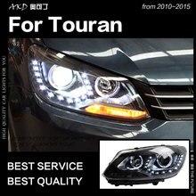 AKD voiture style pour VW Touran phares 2010-2015 Touran phare LED DRL Hid lampe frontale ange oeil Bi xénon faisceau accessoires