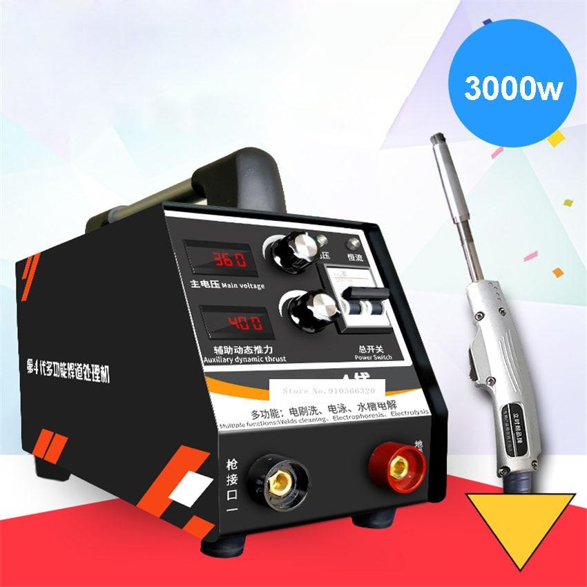 Processador do Grânulo da Solda de Aço Inoxidável da Máquina de Limpeza da Solda v da Limpeza do Ponto da Soldadura de Lustro do Processador Máquina 0-3000 do Grânulo da Solda de Aço 36.6 Lsl-4000 v 220 w