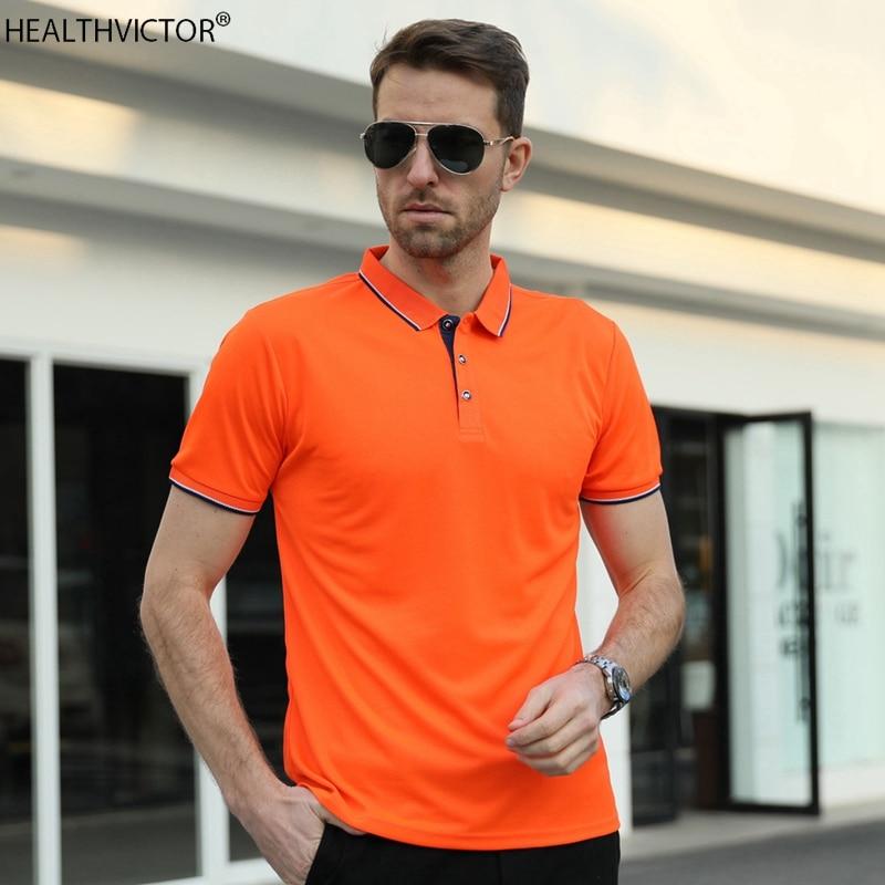 Camiseta transpirable de verano para hombre con Cuello de camisa, para entrenamiento de Golf y deportes al aire libre, pantalón corto informal de manga corta para hombre
